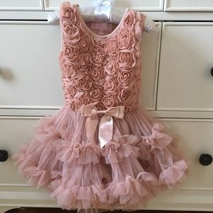 Popatu Ribbon Rosette Tutu Dress - worn only once!